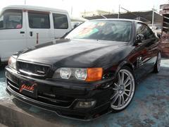 沖縄の中古車 トヨタ チェイサー 車両価格 99万円 リ済込 平成10年 14.0万K ブラック