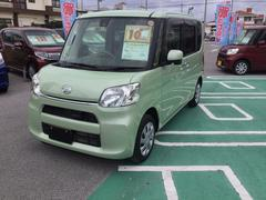 沖縄の中古車 ダイハツ タント 車両価格 135万円 リ済別 平成28年 1.1万K シルキーグリーンパール