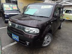 沖縄の中古車 日産 キューブ 車両価格 38万円 リ済込 平成22年 10.6万K ブラウン