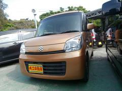 沖縄の中古車 スズキ スペーシア 車両価格 73万円 リ済込 平成25年 8.0万K オレンジ