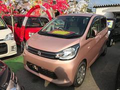沖縄の中古車 三菱 eKワゴン 車両価格 69万円 リ済込 平成25年 4.4万K ピンク