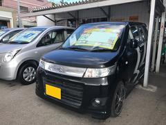 沖縄の中古車 スズキ ワゴンRスティングレー 車両価格 59万円 リ済込 平成24年 7.0万K ブルーイッシュブラックパール3