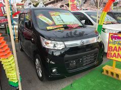 沖縄の中古車 スズキ ワゴンRスティングレー 車両価格 71万円 リ済込 平成25年 4.1万K ブラック