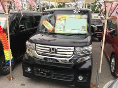 沖縄の中古車 ホンダ N BOXカスタム 車両価格 91万円 リ済込 平成25年 7.1万K ダークパープル