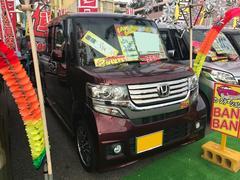 沖縄の中古車 ホンダ N BOXカスタム 車両価格 94万円 リ済込 平成24年 8.6万K ワイン