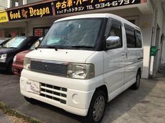 沖縄の中古車 三菱 タウンボックス 車両価格 18万円 リ済込 平成14年 15.0万K ホワイト