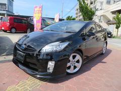 沖縄の中古車 トヨタ プリウス 車両価格 114万円 リ済込 平成21年 8.1万K ブラック