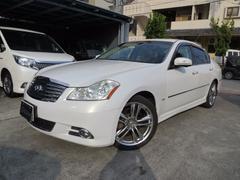 沖縄の中古車 日産 フーガ 車両価格 90万円 リ済込 平成20年 5.8万K パールホワイト
