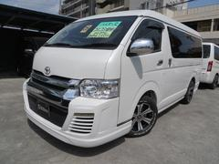 沖縄市 Garage SILVER トヨタ ハイエースバン 3.0ディーゼル パールホワイト 1.4万K 平成26年