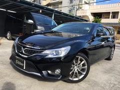 沖縄の中古車 トヨタ マークX 車両価格 255万円 リ済込 平成27後 1.2万K ブラック