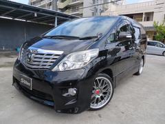 沖縄の中古車 トヨタ アルファード 車両価格 185万円 リ済込 平成20年 5.6万K ブラック