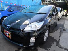 沖縄の中古車 トヨタ プリウス 車両価格 85万円 リ済込 平成22年 7.2万K ブラック