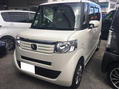 沖縄の中古車 ホンダ N BOX 車両価格 97万円 リ済込 平成25年 6.6万K パールホワイト