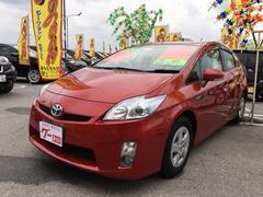 沖縄の中古車 トヨタ プリウス 車両価格 114万円 リ済込 平成22年 2.7万K レッド