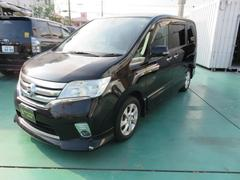 沖縄の中古車 日産 セレナ 車両価格 142万円 リ済込 平成23年 8.7万K ブラックM