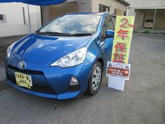 沖縄の中古車 トヨタ アクア 車両価格 79万円 リ済込 平成25年 7.6万K ブルー