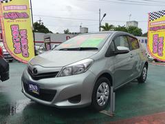 沖縄の中古車 トヨタ ヴィッツ 車両価格 66万円 リ済込 平成24年 7.2万K グリーン