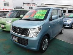 沖縄の中古車 スズキ ワゴンR 車両価格 93万円 リ済込 平成28年 1.2万K ライトブルーM