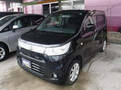 沖縄の中古車 スズキ ワゴンRスティングレー 車両価格 70万円 リ済込 平成24年 4.1万K ブラックM