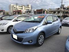 沖縄の中古車 トヨタ ヴィッツ 車両価格 82.1万円 リ済別 平成23年 2.3万K ブルー