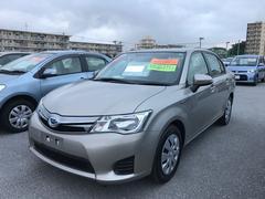 沖縄の中古車 トヨタ カローラアクシオ 車両価格 135万円 リ済別 平成25年 5.2万K シルバーM