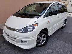 沖縄の中古車 トヨタ エスティマT 車両価格 29万円 リ済込 平成14年 9.1万K パールホワイト
