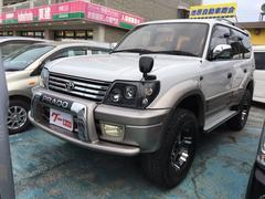 沖縄の中古車 トヨタ ランドクルーザープラド 車両価格 137万円 リ済込 平成11年 13.0万K パールII