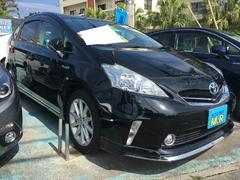 沖縄の中古車 トヨタ プリウスアルファ 車両価格 125万円 リ済込 平成24年 10.2万K ブラック