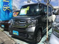 沖縄の中古車 ホンダ N BOXカスタム 車両価格 125万円 リ済込 平成27年 2.5万K グレー