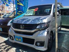 沖縄の中古車 ホンダ N−WGNカスタム 車両価格 95万円 リ済込 平成25年 1.7万K シルバーM
