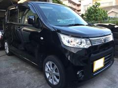 沖縄の中古車 スズキ ワゴンRスティングレー 車両価格 69万円 リ済込 平成25年 5.0万K ブルーイッシュブラックパール3