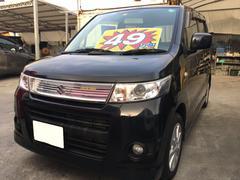 沖縄の中古車 スズキ ワゴンRスティングレー 車両価格 49万円 リ済込 平成22年 9.2万K ブルーイッシュブラックパール3