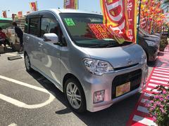 沖縄の中古車 ダイハツ タントエグゼ 車両価格 50万円 リ済込 平成22年 9.4万K シルバー