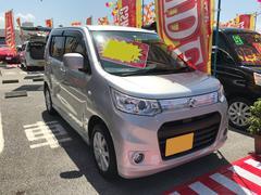 沖縄の中古車 スズキ ワゴンRスティングレー 車両価格 74万円 リ済込 平成25年 7.0万K シルバー