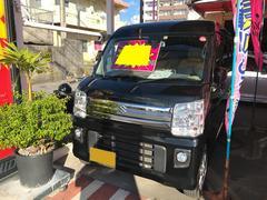 沖縄の中古車 スズキ エブリイワゴン 車両価格 106万円 リ済込 平成27年 9.4万K ブラック