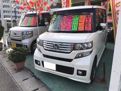 沖縄の中古車 ホンダ N BOXカスタム 車両価格 115万円 リ済込 平成25年 2.7万K パール