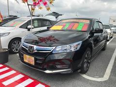 沖縄の中古車 ホンダ アコードハイブリッド 車両価格 203万円 リ済込 平成25年 6.4万K ブラック