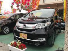 沖縄の中古車 ホンダ ステップワゴンスパーダ 車両価格 219万円 リ済込 平成28年 0.9万K プレミアムスパークルブラックパール