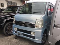 沖縄の中古車 スズキ エブリイワゴン 車両価格 46万円 リ済込 平成18年 17.2万K アクアマリンブルーオパールメタリック