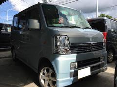 沖縄の中古車 スズキ エブリイワゴン 車両価格 56万円 リ済込 平成18年 14.3万K ライトブルー