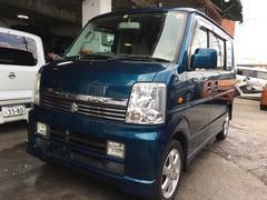 沖縄の中古車 スズキ エブリイワゴン 車両価格 54万円 リ済込 平成18年 15.6万K ターコイズグリーンパールメタリック