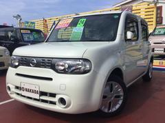 沖縄の中古車 日産 キューブ 車両価格 55万円 リ済別 平成24年 8.1万K ホワイトパール