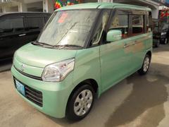 沖縄の中古車 スズキ スペーシア 車両価格 93万円 リ済込 平成25年 4.0万K フィレストアクア