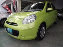 沖縄の中古車 日産 マーチ 車両価格 43万円 リ済込 平成22年 6.2万K ライトグリーン