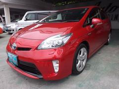 沖縄の中古車 トヨタ プリウス 車両価格 120万円 リ済込 平成24年 7.2万K レッド