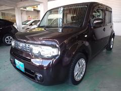 沖縄の中古車 日産 キューブ 車両価格 58万円 リ済込 平成22年 5.7万K ブラウン