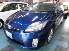 沖縄の中古車 トヨタ プリウス 車両価格 98万円 リ済込 平成22年 7.5万K ダークブルー