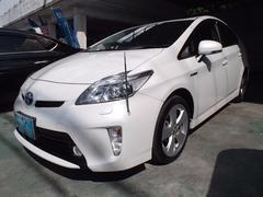 沖縄の中古車 トヨタ プリウス 車両価格 158万円 リ済込 平成26年 6.0万K パールホワイト