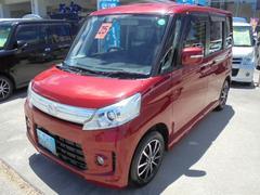 沖縄の中古車 マツダ フレアワゴンカスタムスタイル 車両価格 98万円 リ済込 平成25年 4.1万K レッドM