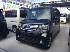 沖縄の中古車 ホンダ N BOXカスタム 車両価格 97万円 リ済込 平成25年 7.2万K ブラック